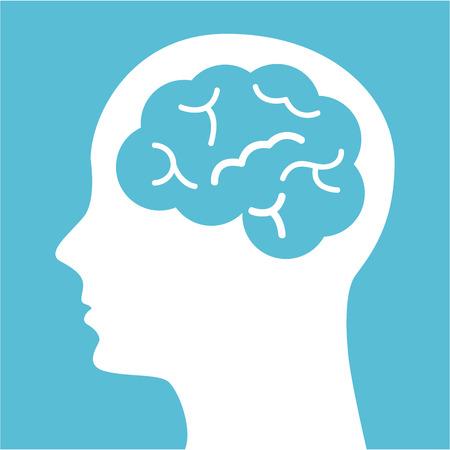 Illustration for think design over blue background vector illustration - Royalty Free Image