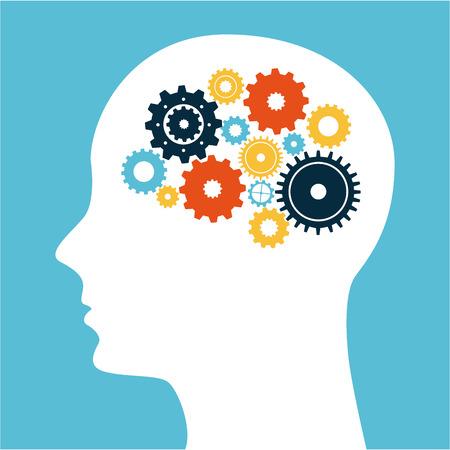 Illustration pour think design over blue background vector illustration - image libre de droit