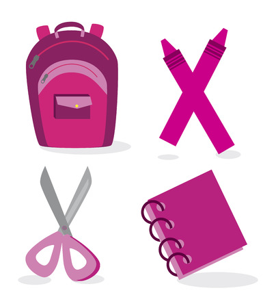 school tools over blue background vector illustration
