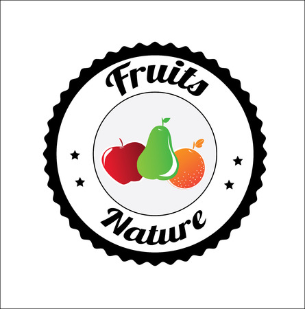 fruits design over white background. vector illustrationのイラスト素材