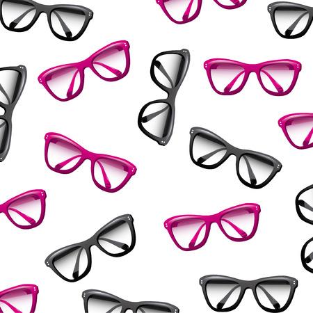Glasses design over white background