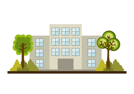 Buildings design over white background, vector illustration