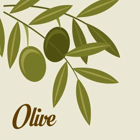 Olives design over beige background, vector illustrationのイラスト素材