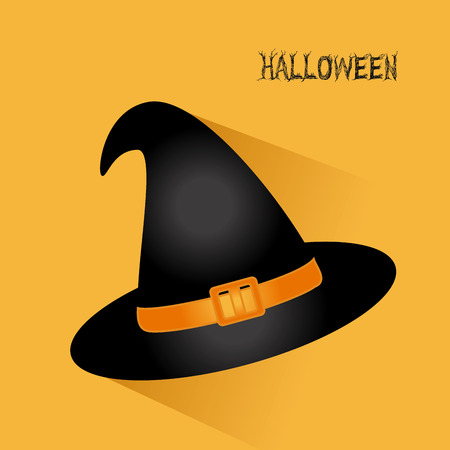 Halloween design over yellow background illustration