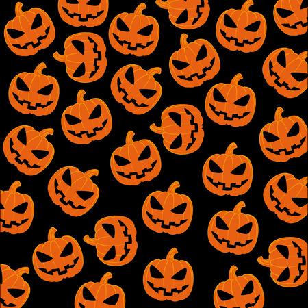 Halloween design over black background illustration