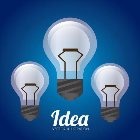 Bulb design over blue background, vector illustration