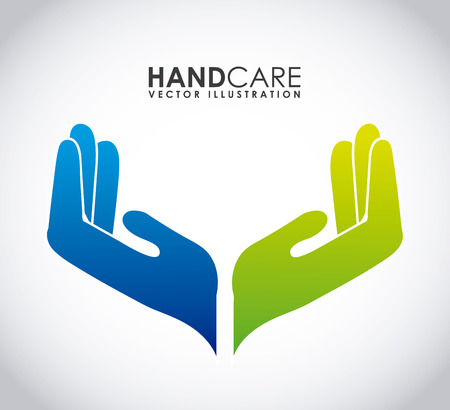 Illustration for hand care graphic design , vector illustration - Royalty Free Image
