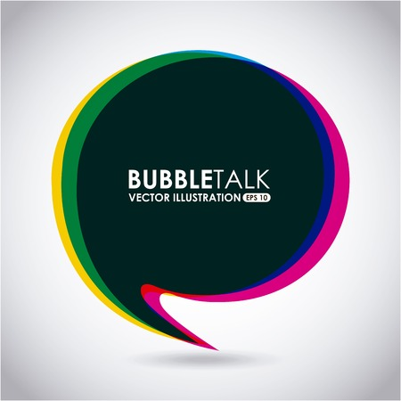 Illustration for bubble talk design, vector illustration eps10 graphic - Royalty Free Image