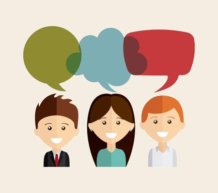 Illustration for bubble talk design   - Royalty Free Image
