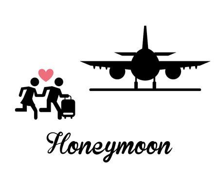 Illustration pour honeymoon design, vector illustration eps10 graphic - image libre de droit