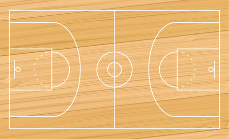 basketball sport court design illustration