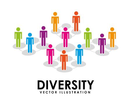 Ilustración de diversity concept design, vector illustration  - Imagen libre de derechos
