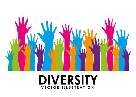 Ilustración de diversity concept design, vector illustration eps10 graphic - Imagen libre de derechos