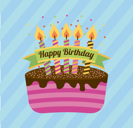happy birthday design, vector illustration graphic