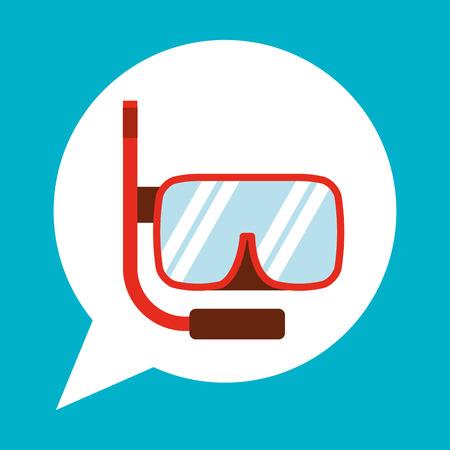 beach goggle icon design illustration