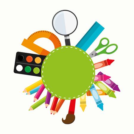 Foto de school supplies design - Imagen libre de derechos