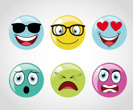 emoticons icons design, vector illustration  graphic