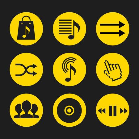 music online design, vector illustration   graphic