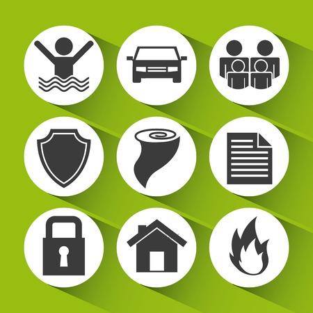 insurance icons design, vector illustration eps10 graphic