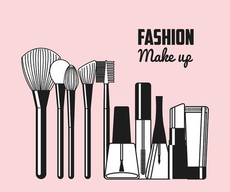 Illustration pour makeup female design, vector illustration eps10 graphic - image libre de droit