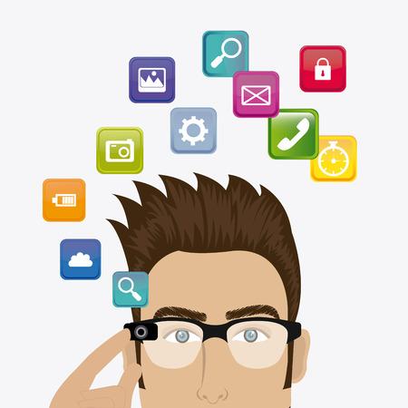 Tecnology digital design, vector illustration eps 10.