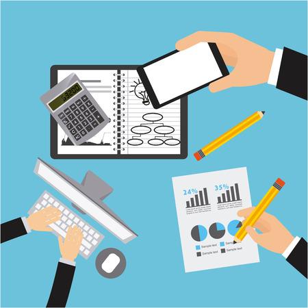 business planning design, vector illustration eps10 graphic