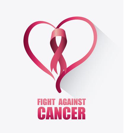 Fight against breast cancer campaign design, vector illustration eps10