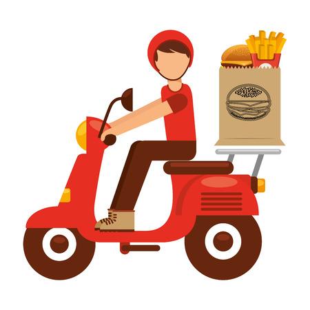 Illustration pour food delivery design, vector illustration eps10 graphic - image libre de droit