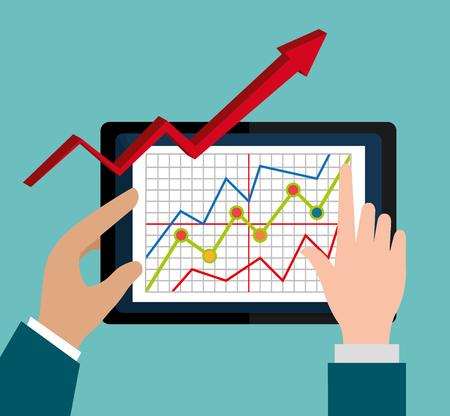 Stock market with statistics graphic design, vector illustration eps10