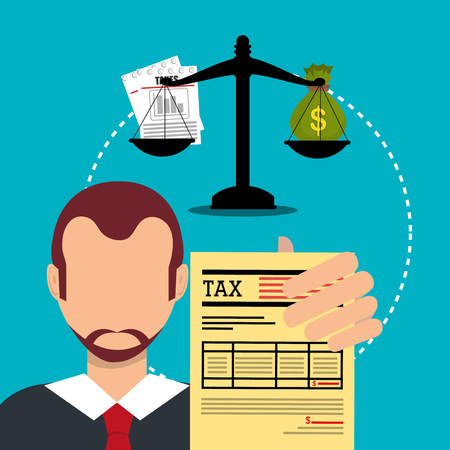 Goverment taxes payment graphic design, vector illustration