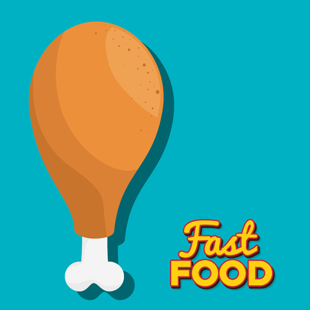 Delicious fast food graphic design, vector illustration eps10