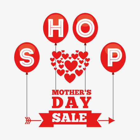Illustration for mothers day sale design, vector illustration eps10 graphic - Royalty Free Image