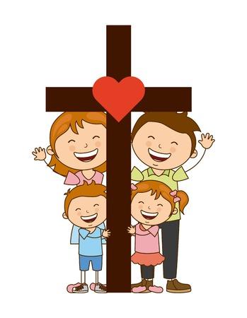 Illustration pour god and family design, vector illustration eps10 graphic - image libre de droit