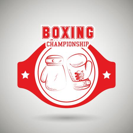boxing sport design, vector illustration eps10 graphic