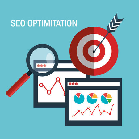 Illustration pour search engine optimization design, vector illustration eps10 graphic - image libre de droit