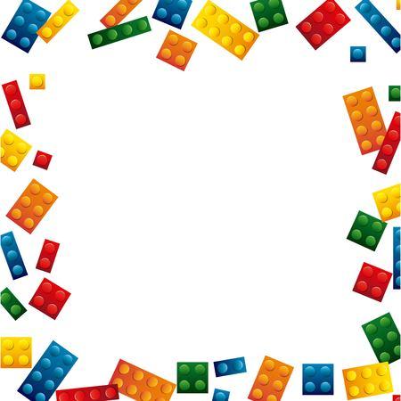 Ilustración de blocks to build design, vector illustration eps10 graphic - Imagen libre de derechos