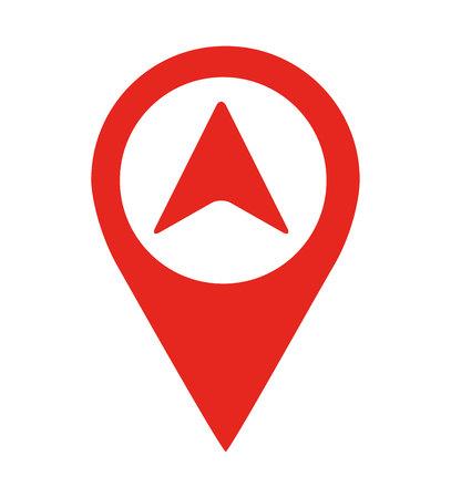 Illustration pour arrow location pin  isolated icon design, vector illustration  graphic - image libre de droit