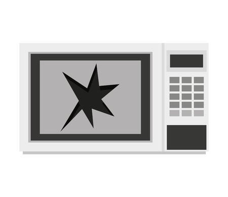 oven microwave appliance broken icon vector illustration design