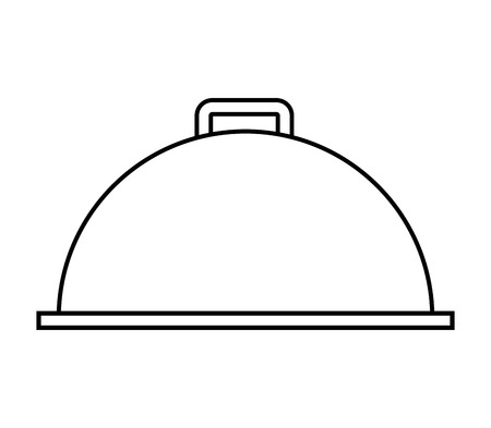 tray server dish icon vector illustration design