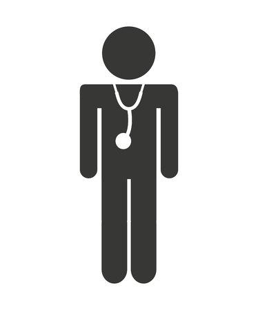 doctor human figure icon vector illustration design