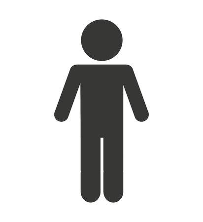 Illustration pour man male silhouette isolated icon vector illustration design - image libre de droit