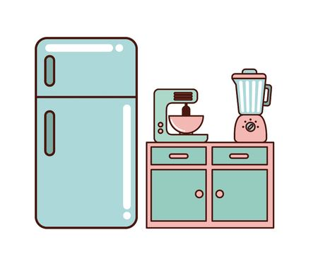 kitchen home appliances vector illustration,  graphic design
