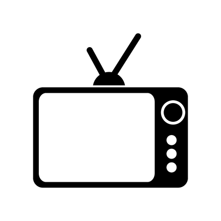 Illustration pour retro or vintage tv old television antique vector illustration - image libre de droit