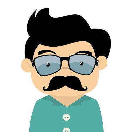 Illustration pour man hipster - image libre de droit