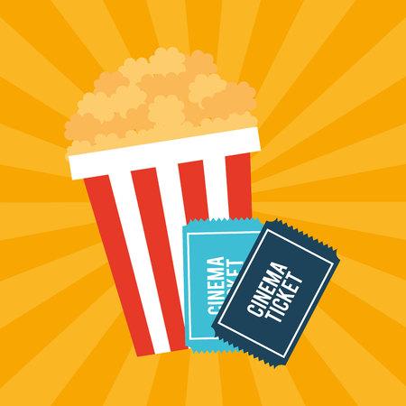 Illustration pour cinema entertainment flat icon vector illustration design - image libre de droit