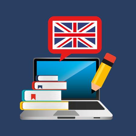 Illustration pour learn english online icon vector illustration design - image libre de droit