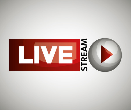 Illustration for button icon live streaming design graphic vector illustration - Royalty Free Image