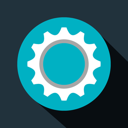 gear setup machinery icon vector illustration design
