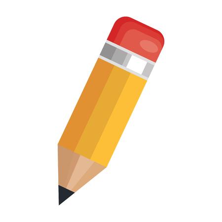 Illustration pour pencil school supply isolated icon vector illustration design - image libre de droit