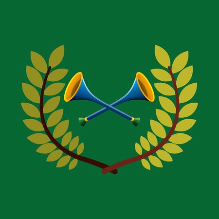 vuvuzela  emblem vector illustration